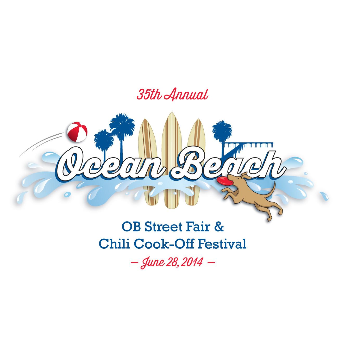 OB Street Fair 2014 logo design by Ashley Lewis
