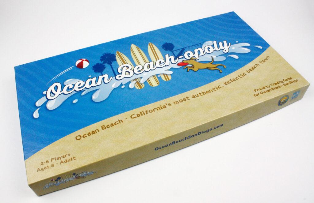 Ocean Beach-opoly game box
