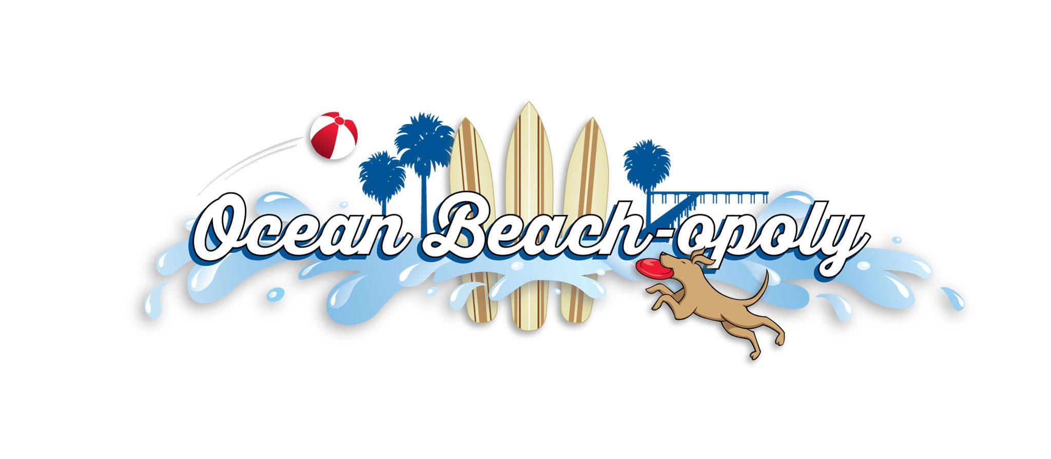 Ocean Beach-opoly logo design by Ashley Lewis