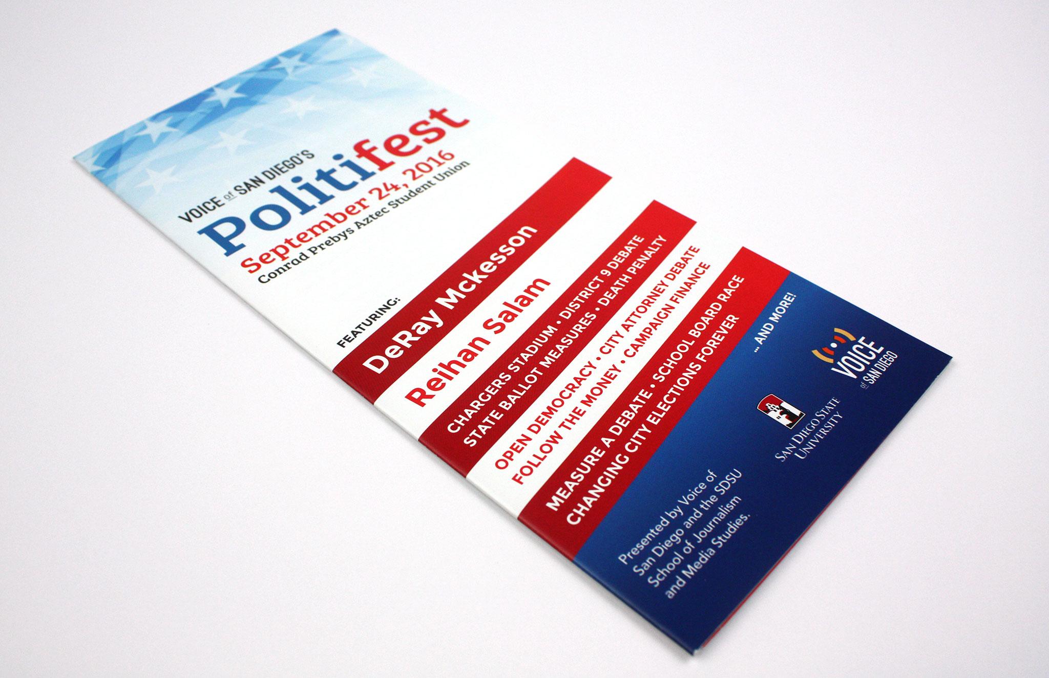 Politifest event program by Ashley Lewis