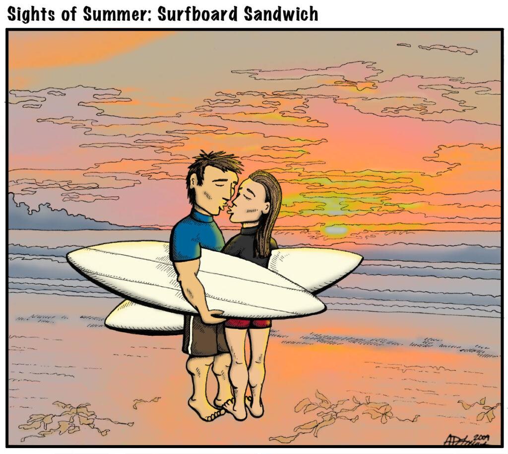Editorial cartoon by Ashley Lewis