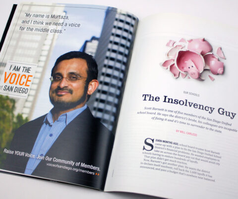 Voice of San Diego magazine design by Ashley Lewis
