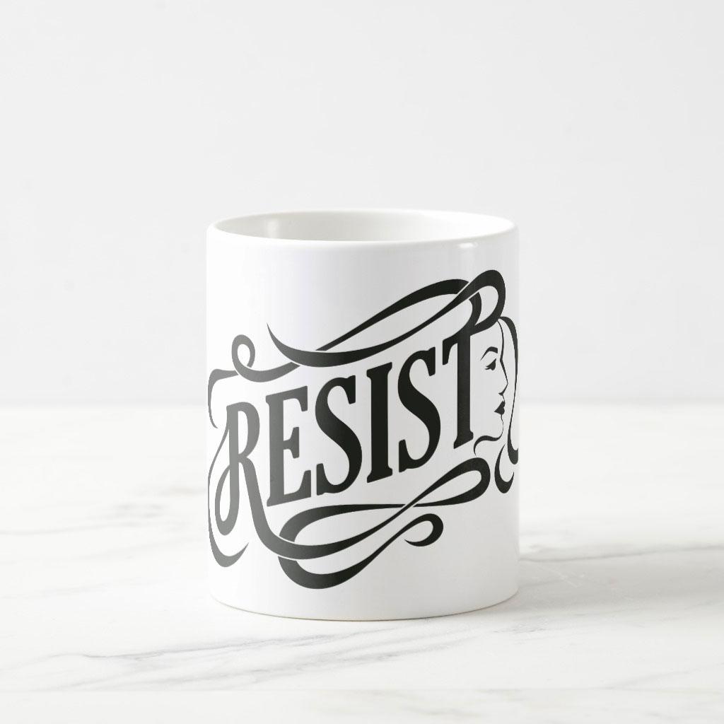 Resist coffee mug design by Ashley Lewis