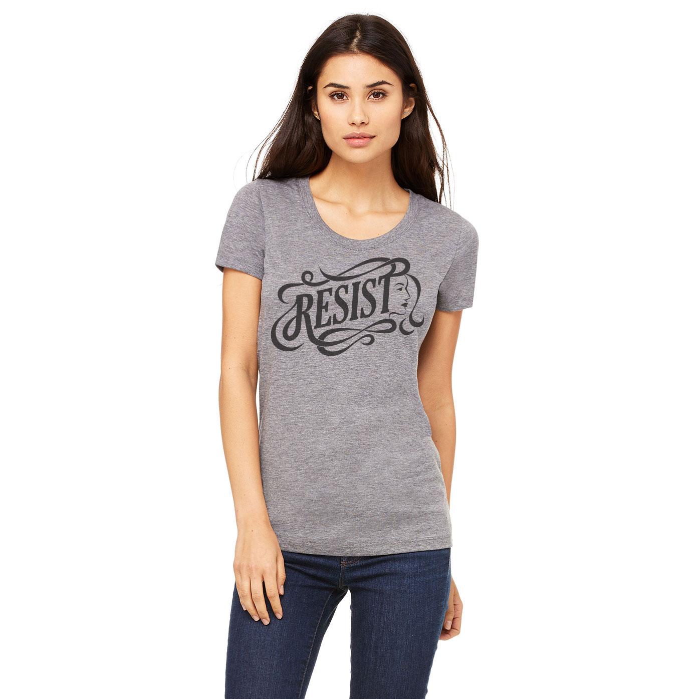 Resist logo t-shirt designed by Ashley Lewis