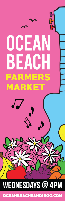 Ocean Beach farmers market banner design by Ashley Lewis
