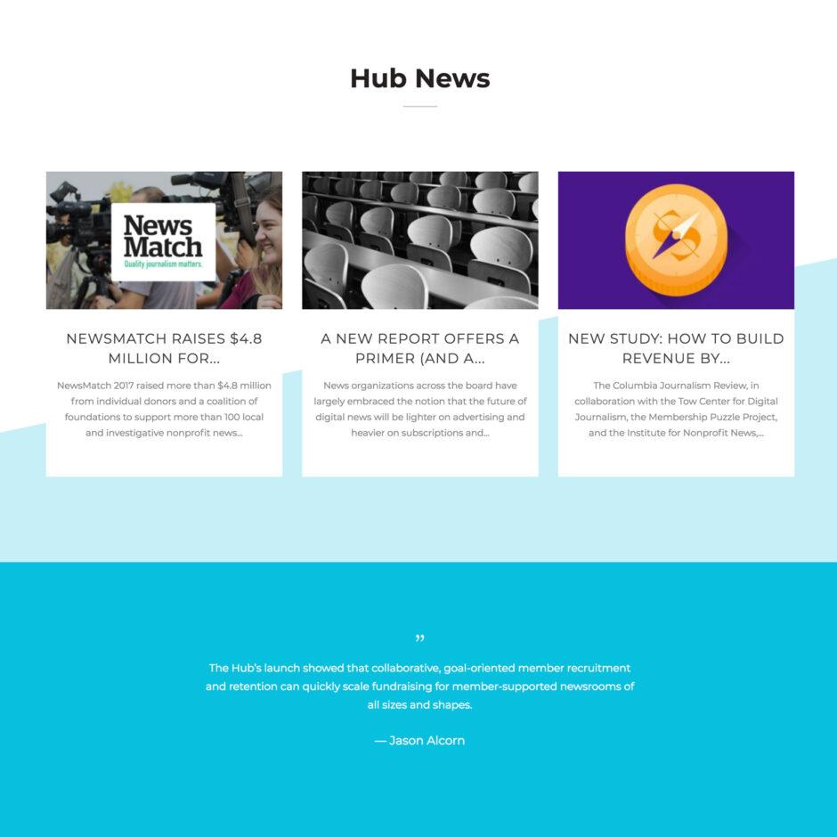 News Revenue Hub website home