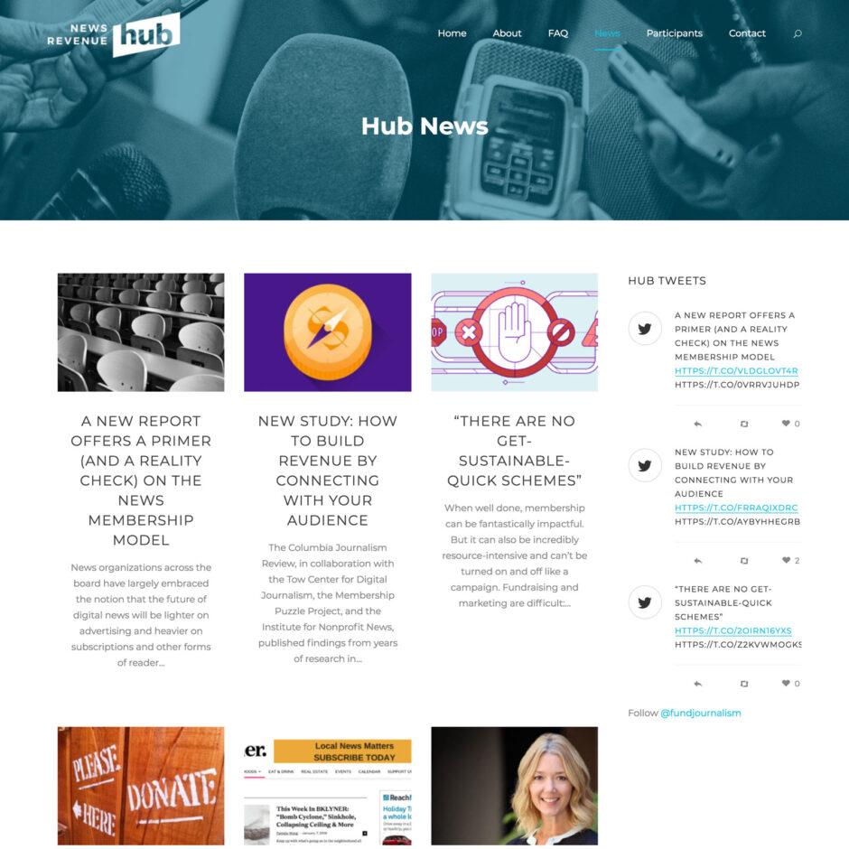 News Revenue Hub website