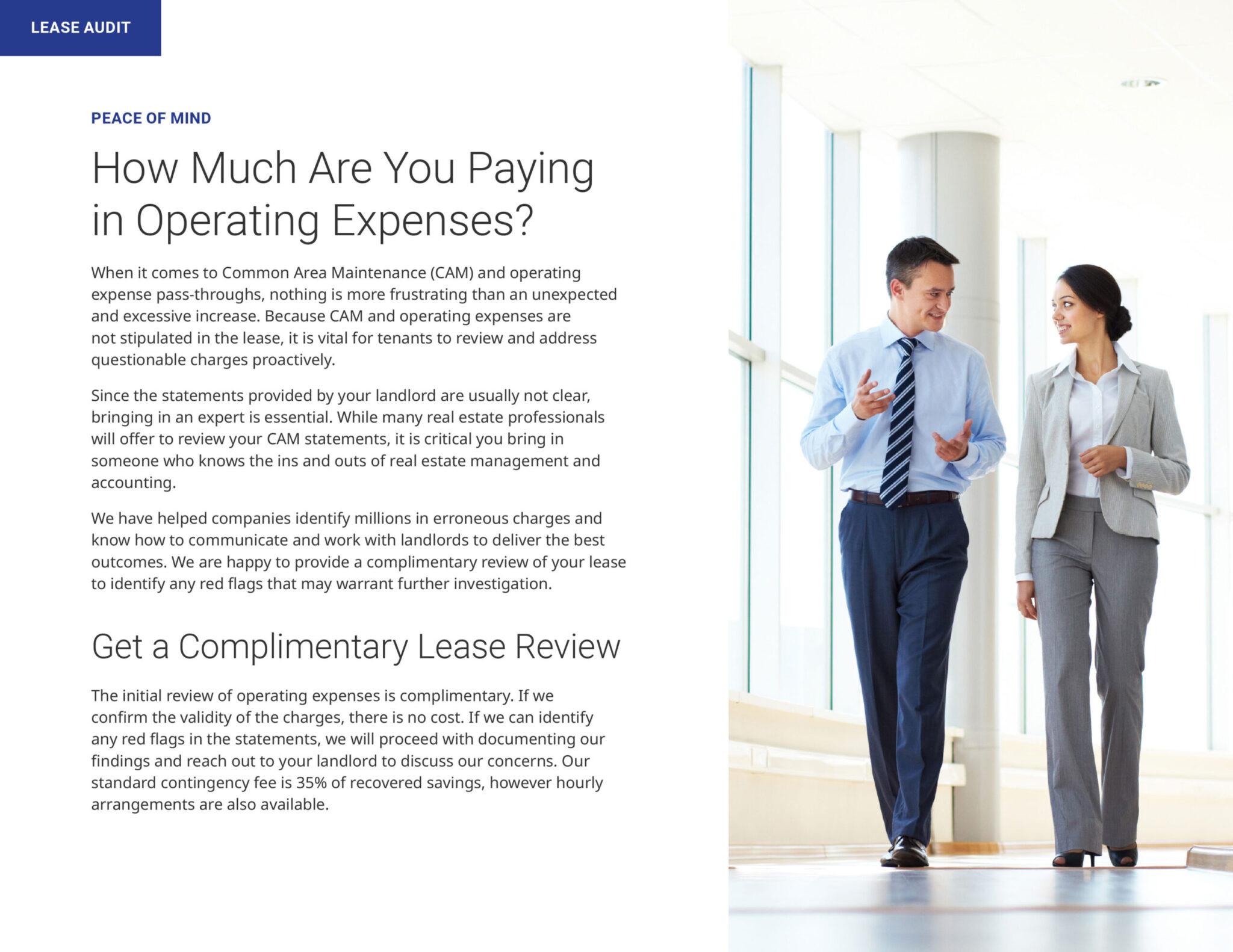 National Lease Advisors brochure design