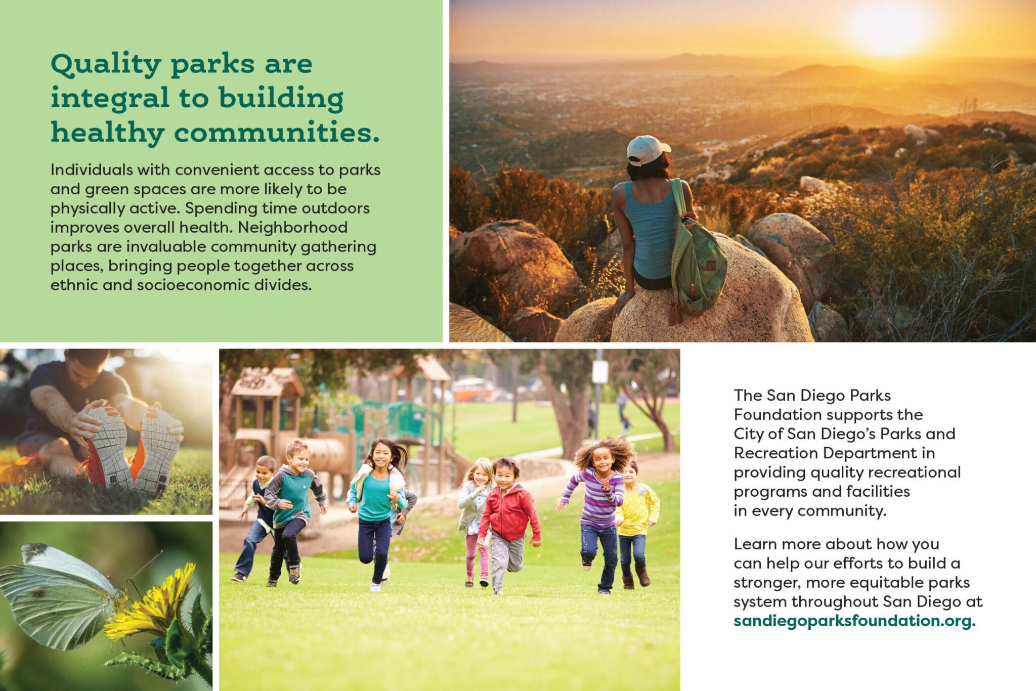 San Diego Parks Foundation postcard design